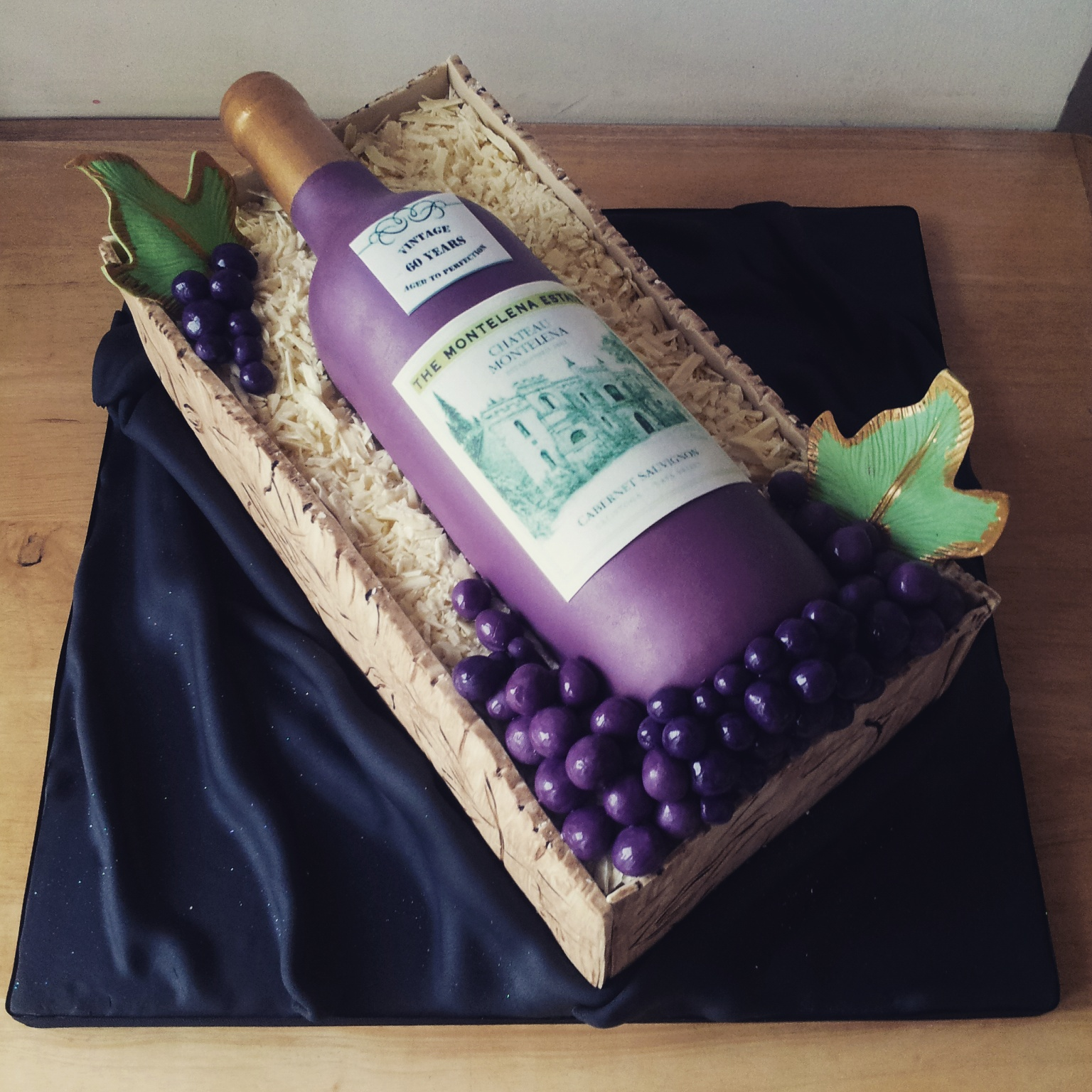 Wine Bottle Themed Birthday Cakes