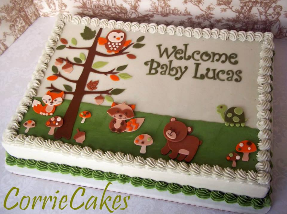 12 Weiss Sheet Woodland Animal Cakes Photo Woodland Animals Baby