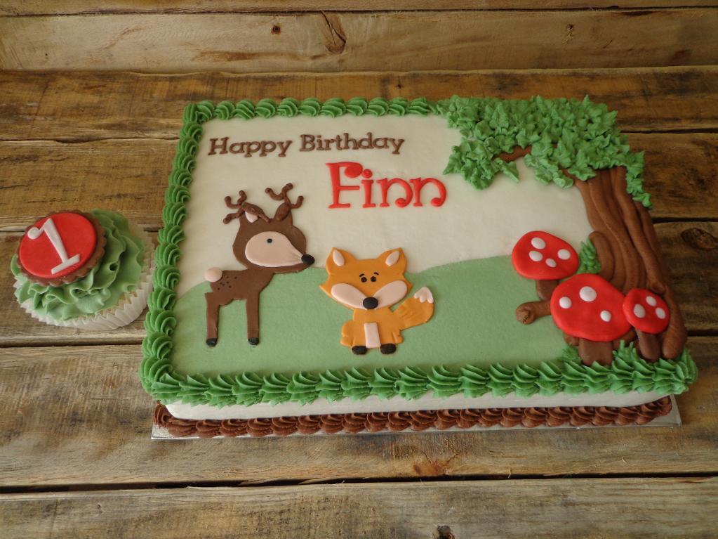 Woodland Baby Shower Cake Ideas