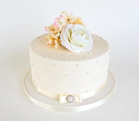 1 Tier Fondant Wedding Cake 795097