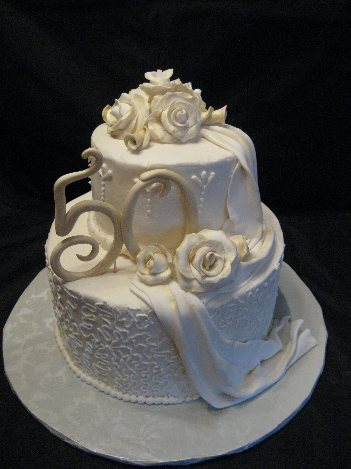 10 Photos of 50 Anniversary Cakes Images Fondant