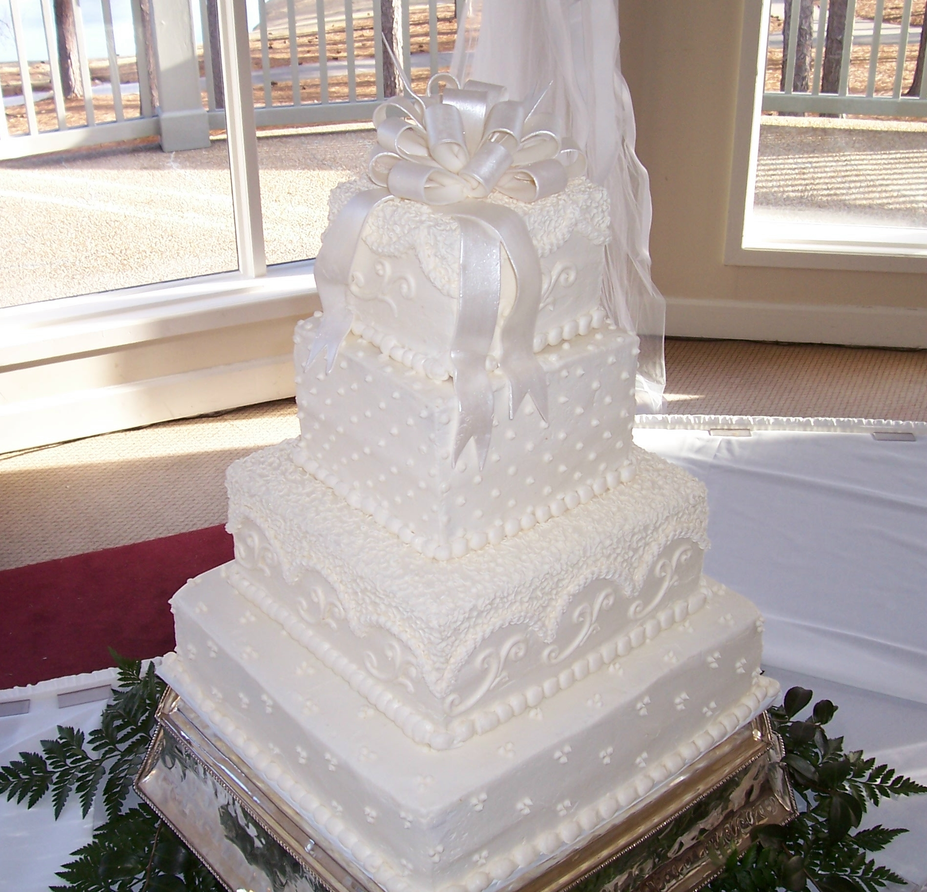 square 4 tier wedding cakes 11 k on wedding cakes square with a corner photo 4 tier 20343