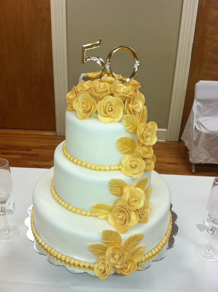 Fondant Anniversary Cake