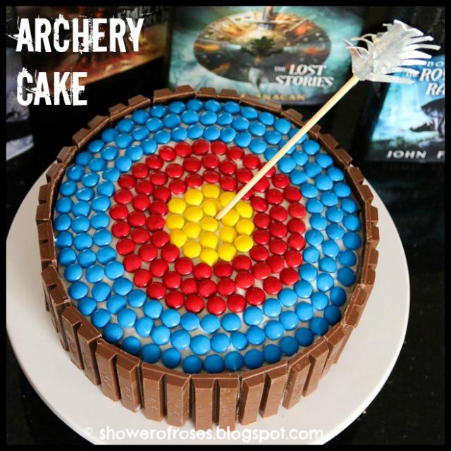 Archery Target Birthday Cake