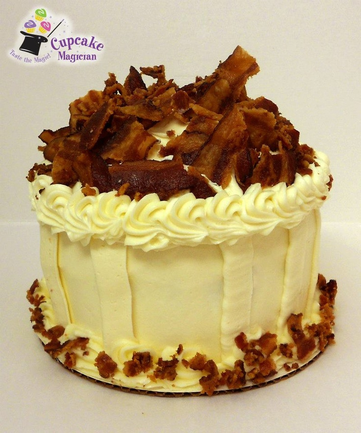 6 Hot N Bacon Cupcake Cakes Photo Bacon Birthday Cake Hot Pink