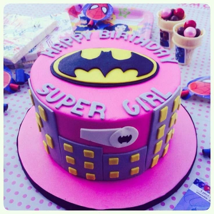 12 Batgirl Cakes Ideas For A Six Year Old Photo Batman Birthday