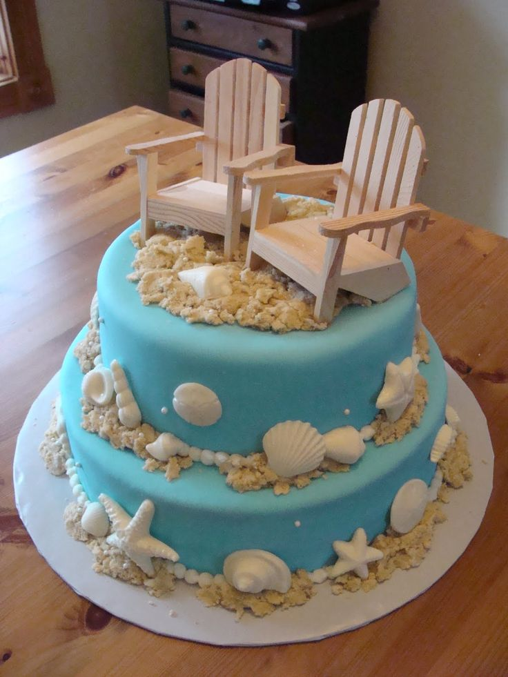 11 Heb Cakes Beach Themed Photo Beach Themed Cake Beach Themed