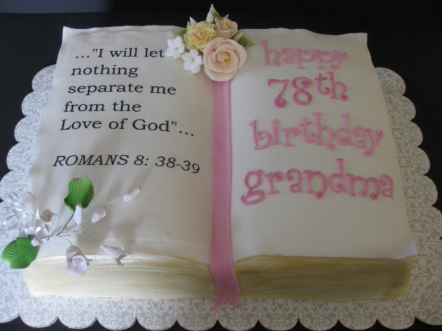 7 Birthday Cakes With Bible Verse Photo Birthday Cake For Grandma