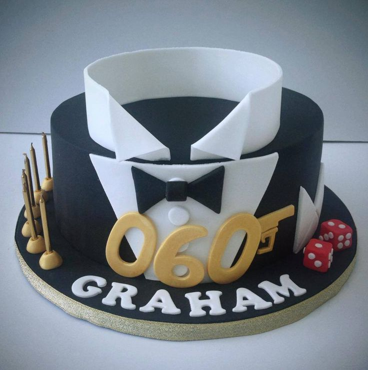 9 Fondant Cakes For Men Gold Photo Pic of Gold and Silver Birthday