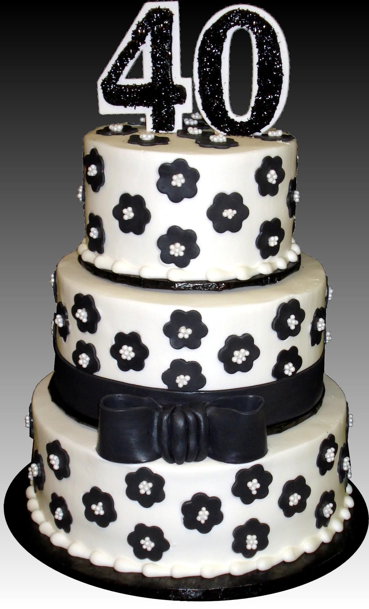 12 Pearls With Black And White For Birthday Cakes Birthday 14th