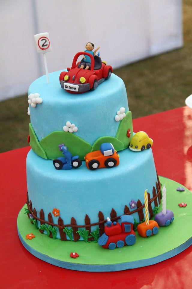 11 Boy Birthday Cakes Fondant Photo Boys 1st Birthday Cake Ideas