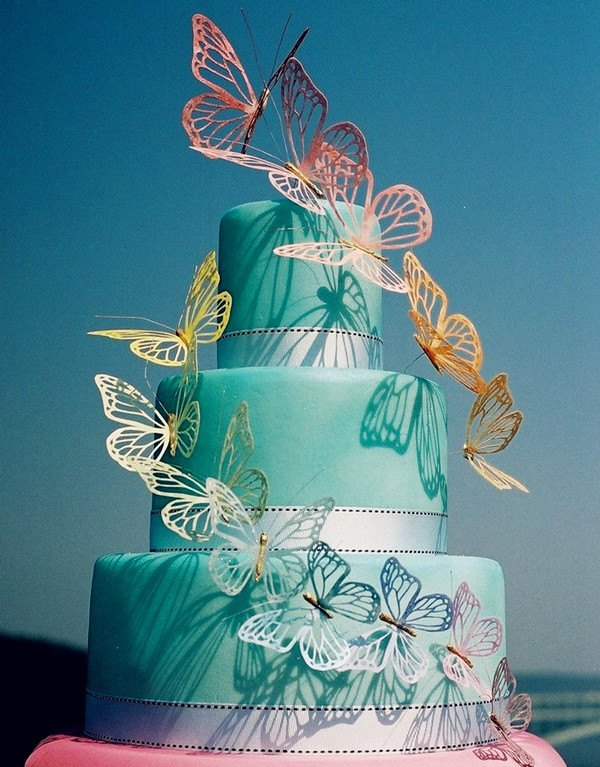 12 Butterfly Themed Wedding Cakes Photo Wedding Cake With