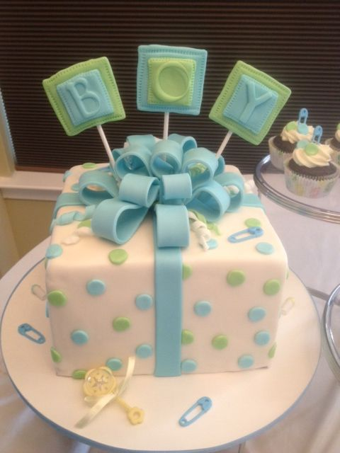 Cake As A Baby Shower Cupcakes For Boys