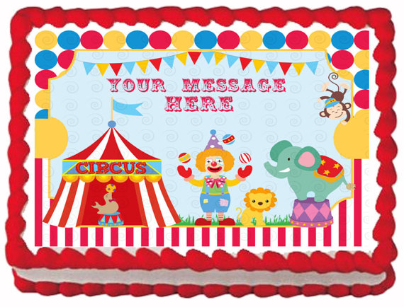 Carnival Theme Birthday Sheet Cakes