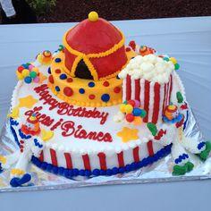 Carnival Theme Sheet Cake