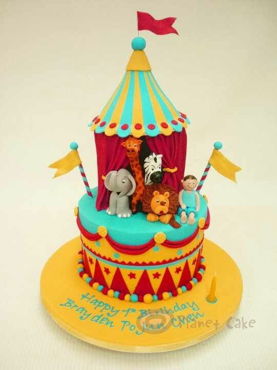 Circus Tent Cake & 12 Pinterest Circus Fondant Cakes Photo - Circus Tent Cake Circus ...