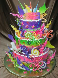 Super 7 Really Colorful Birthday Cakes For Teenage Girls Photo Funny Birthday Cards Online Fluifree Goldxyz