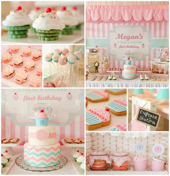 11 1st Birthday Party Cupcakes Photo Cupcake Themed 1st Birthday