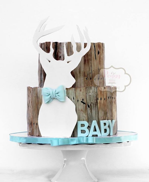 12 Doe Themed Baby Shower Cakes Photo Deer Baby Shower Cake Buck