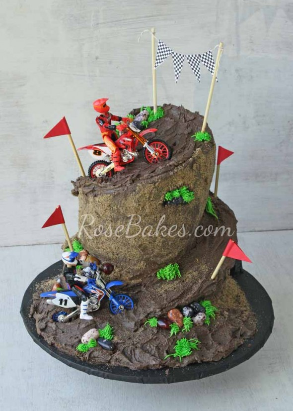 Admirable 7 8 Year Old Birthday Cakes Dirt Bike Track Photo Dirt Bike Funny Birthday Cards Online Overcheapnameinfo