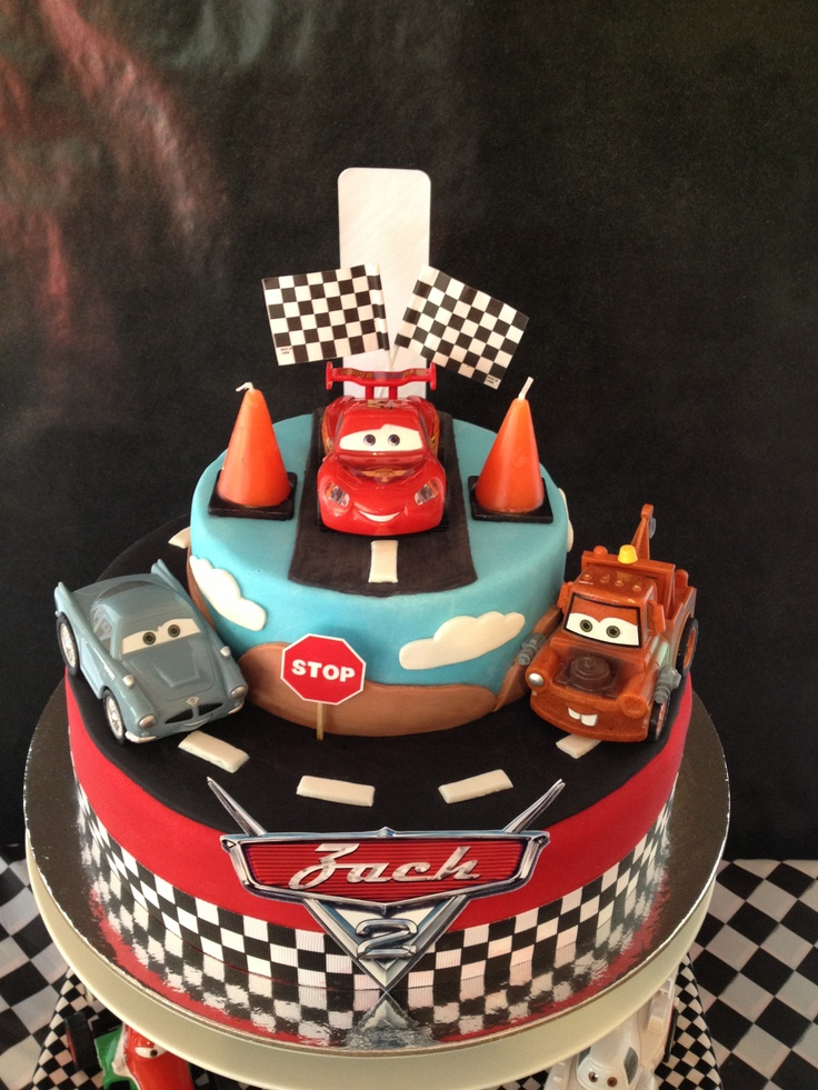 12 Disney Cars 2 Cakes Photo Disney Cars Cake Disney Cars Fondant