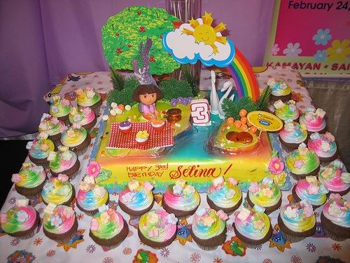 7 Dora The Explorer Birthday Cakes Cupcakes Photo Dora Birthday