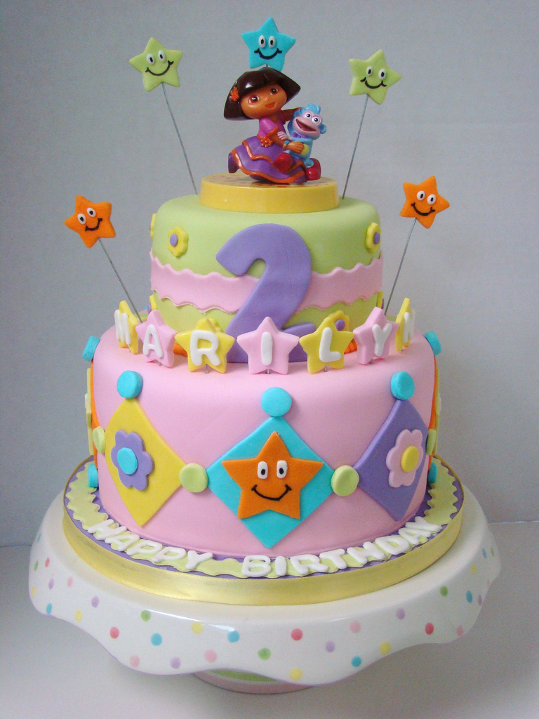 7 Dora The Explorer Birthday Cakes Cupcakes Photo Dora Birthday