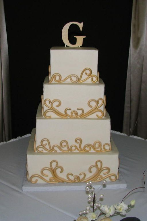 gold and white square wedding cakes 11 white gold and square cakes photo square tiered cake 14742