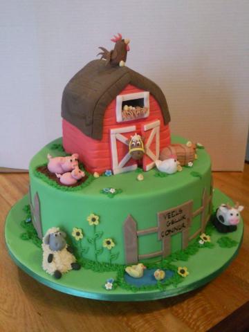 8 Farm Cakes For Toddler Photo Kids Farm Animal Birthday Cake