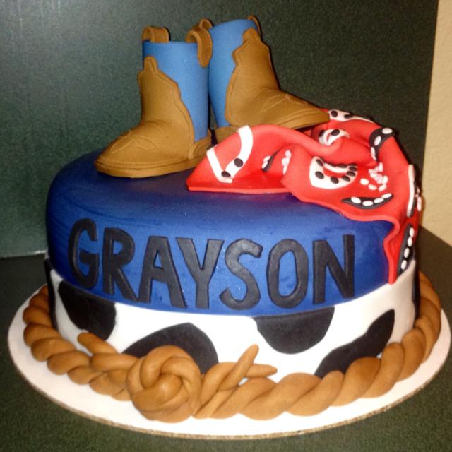 10 Western Birthday Cakes For Boys Photo Cowboy Birthday Cake