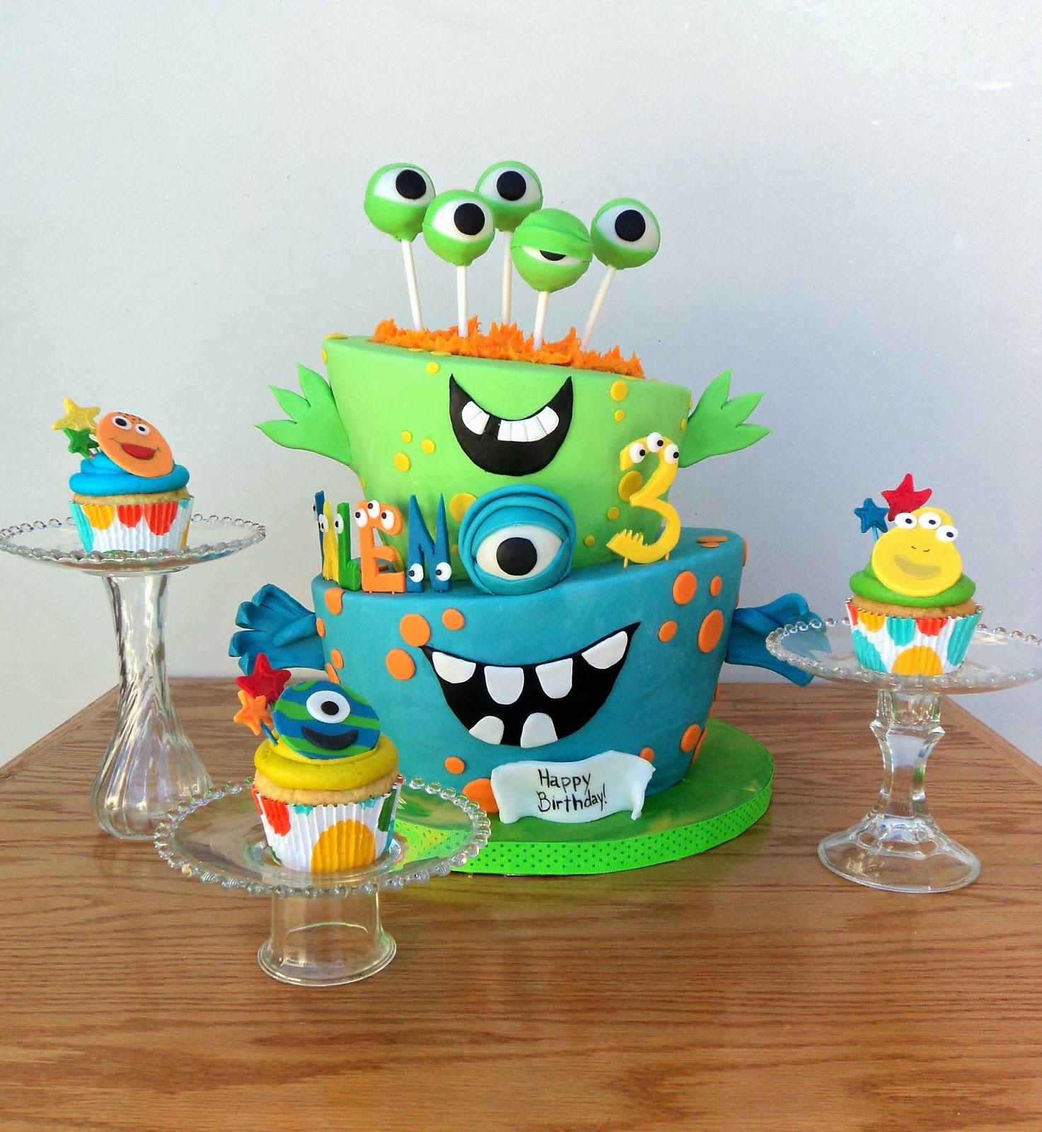 Astonishing 11 Little Monster Birthday Cupcakes Photo Little Monster Funny Birthday Cards Online Inifofree Goldxyz