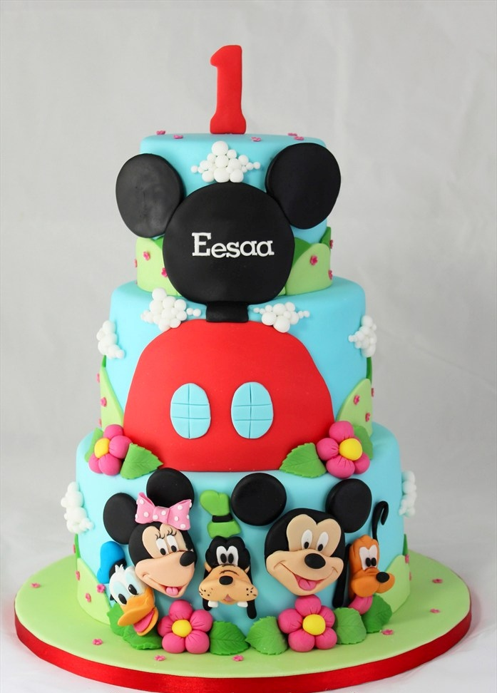 Groovy 11 Mickey Mouse Birthday Cakes For Boys Photo Mickey Mouse Personalised Birthday Cards Sponlily Jamesorg