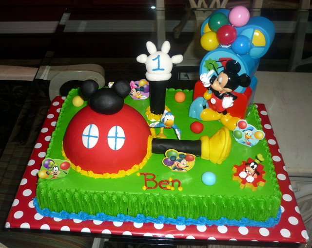 Strange 11 Square Mickey Mouse Clubhouse Cakes Photo Mickey Mouse Cake Personalised Birthday Cards Paralily Jamesorg