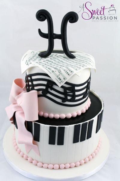 13 Cute Musical Cakes Photo Music Themed Birthday Cake Ideas