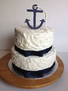 10 Nautical Theme Cakes With Buttercream Icing Photo Nautical