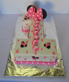 7 Sheet Cakes For A Number Photo Number 1 Minnie Mouse Birthday