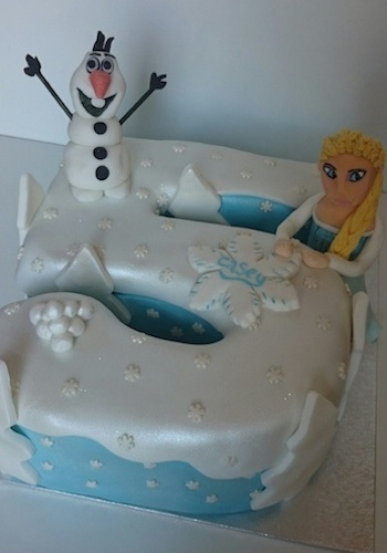 6 Frozen Number With Cakes Photo Number 5 Birthday Cake Frozen