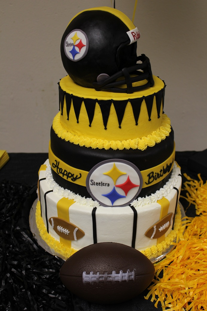 Astounding 8 Skyline Pittsburgh Steeler Birthday Cakes Photo Pittsburgh Funny Birthday Cards Online Aeocydamsfinfo