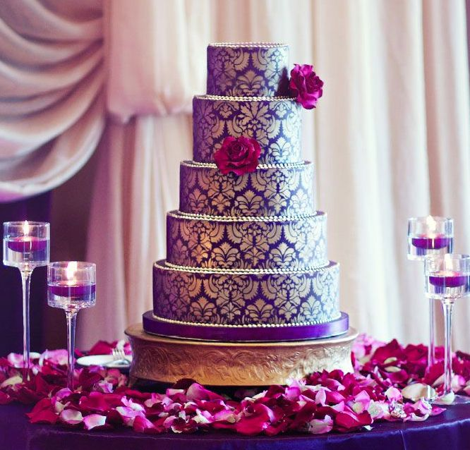 purple and gold wedding cake 7 indian purple wedding cakes photo indian themed 18852