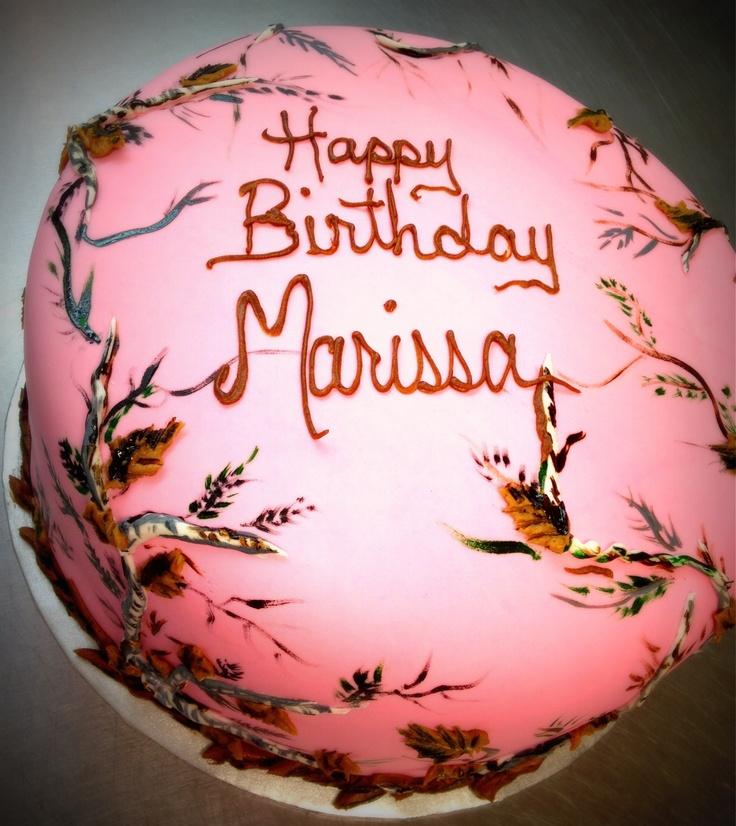 Realtree Camo Birthday Cakes