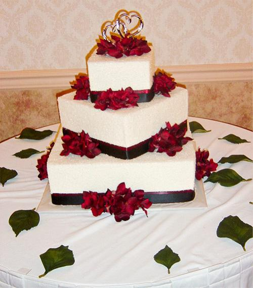 Red White And Black Wedding Cake