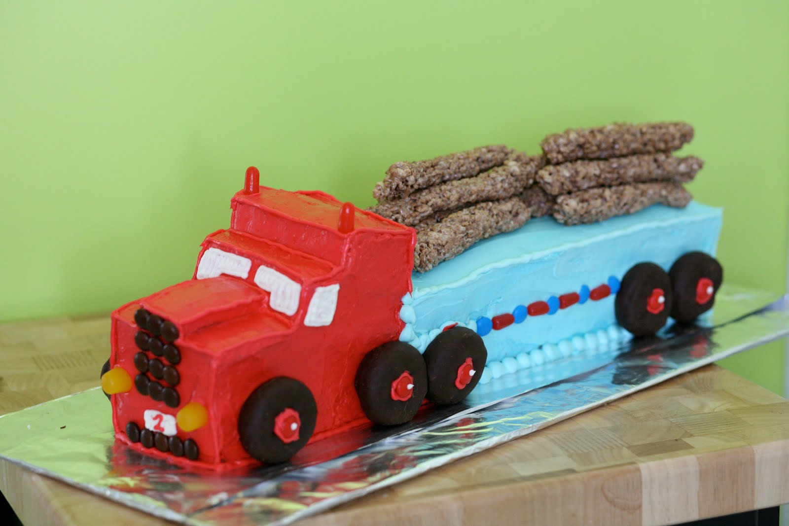 9 Two Shaped Birthday Cakes With Trucks Photo Semi Truck Birthday
