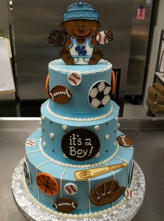 High Quality Sports Baby Shower Cake