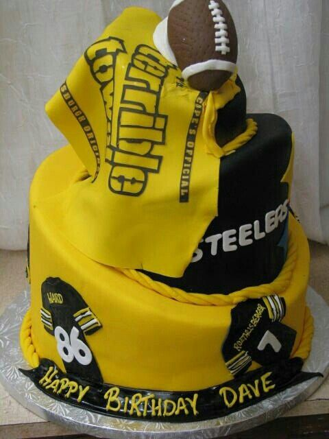 8 Skyline Pittsburgh Steeler Birthday Cakes Photo Pittsburgh