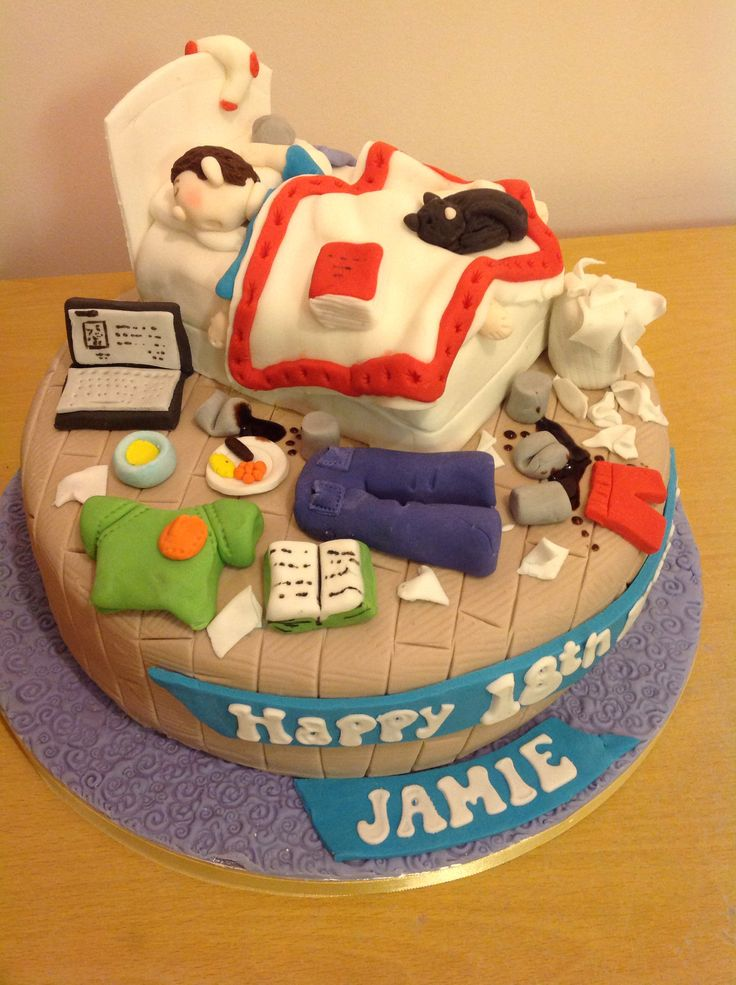 13 Teen Boy Birthday Cupcakes Photo Teenage Messy Bedroom Cake