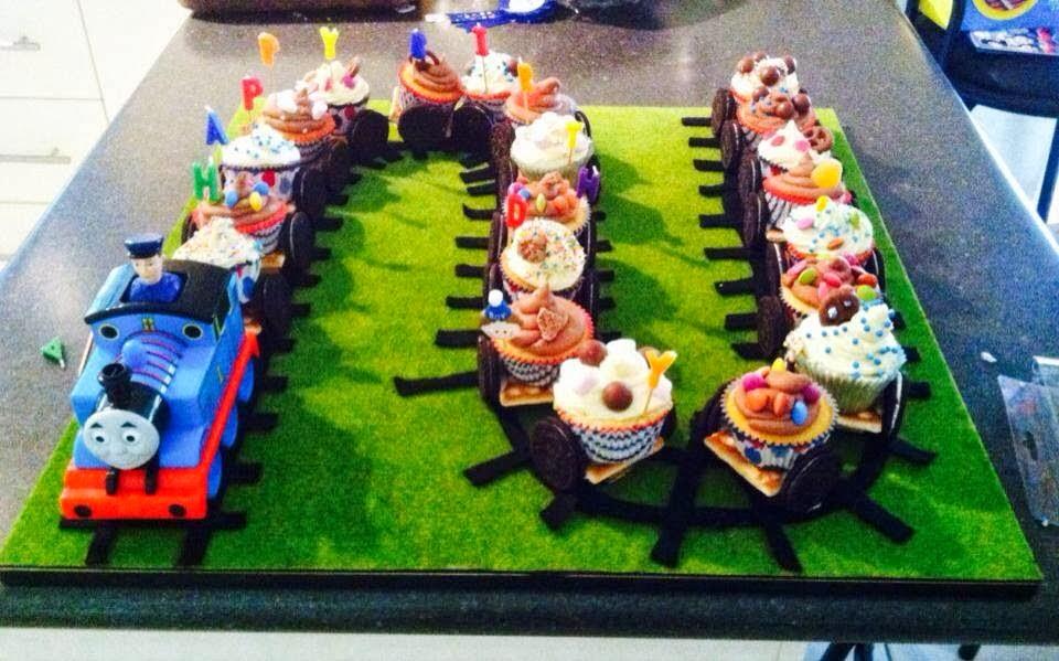 Thomas the Tank Engine Cupcake Train