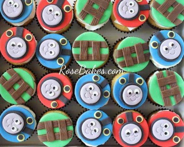 Thomas the Train Cupcake Cake