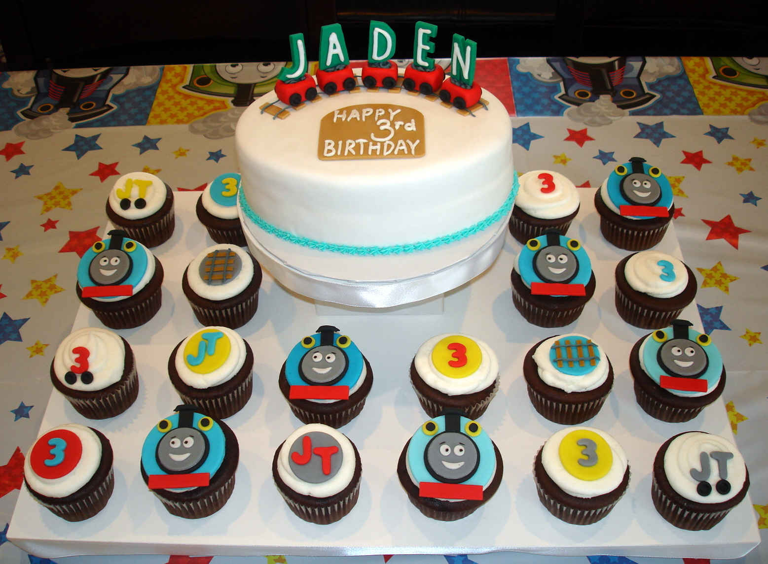 Thomas Train Cake and Cupcakes