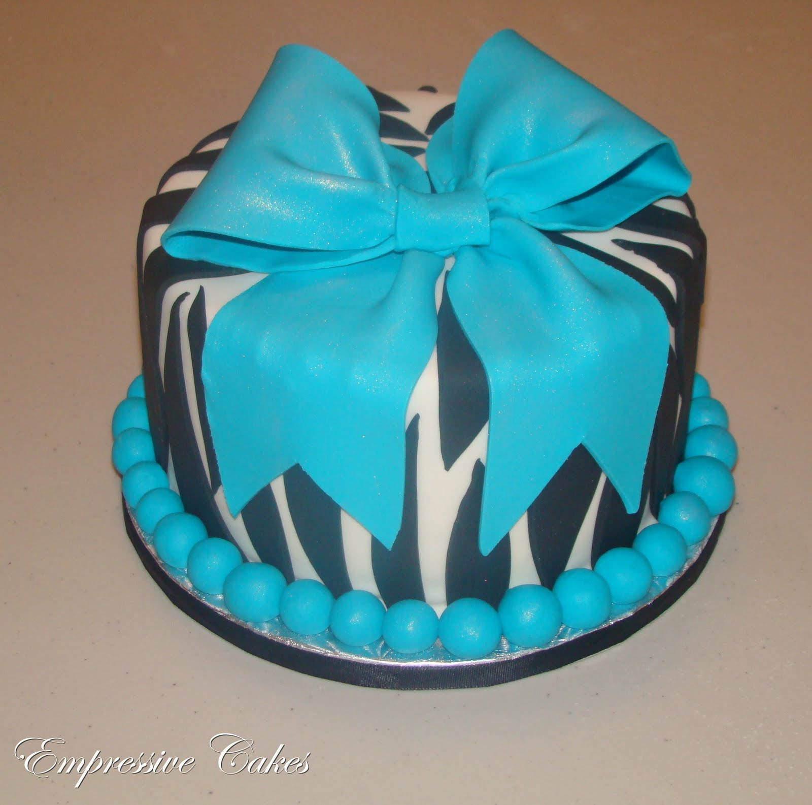 11 Photos of Baby Blue Zebra Print Cakes