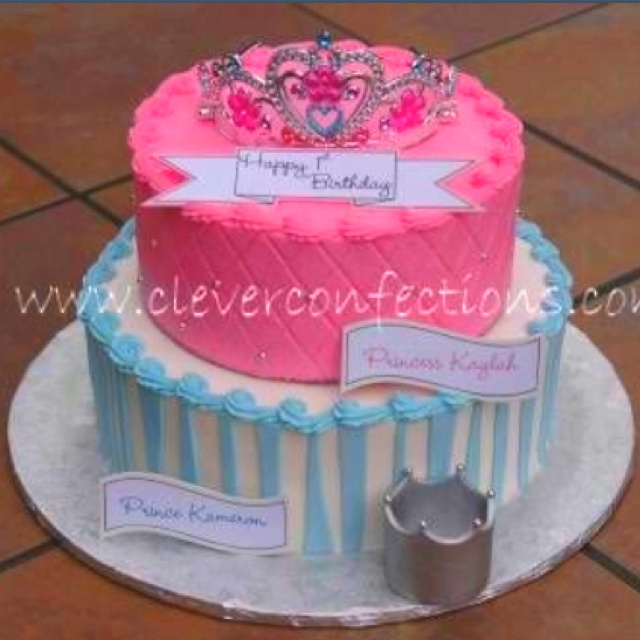 8 Twins First Birthday Cakes Photo Boy Girl Twins Birthday Cakes